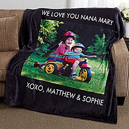 Picture Perfect 50-Inch x 60-Inch Fleece Photo Blanket