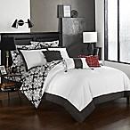 Chic Home Naira 10-Piece Reversible Queen Comforter Set in Grey