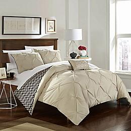 Chic Home Portia 4-Piece Reversible Comforter Set