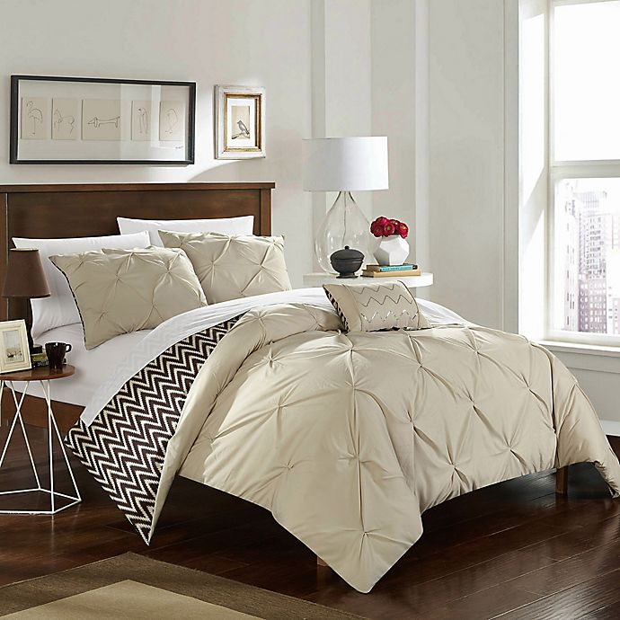Alternate image 1 for Chic Home Portia 4-Piece Reversible Comforter Set