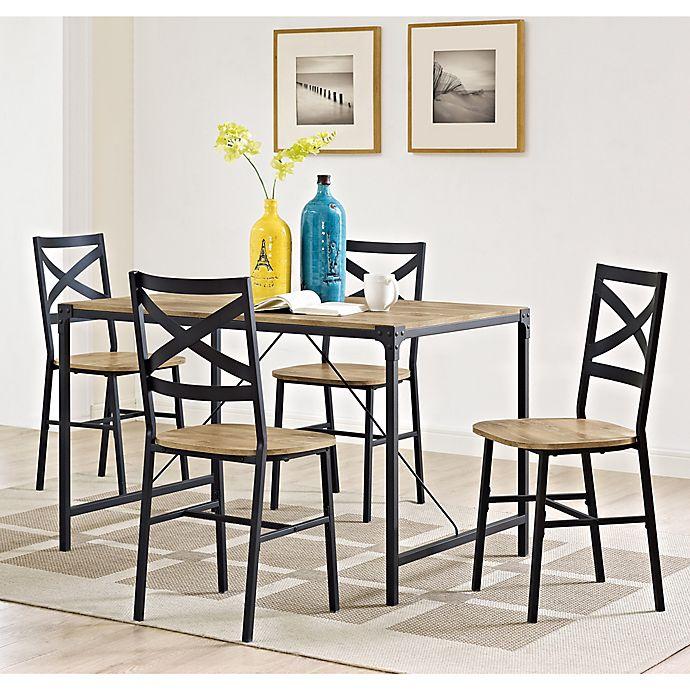 Alternate image 1 for Forest Gate 5inPiece Wheatland Industrial Modern Wood Dining Set