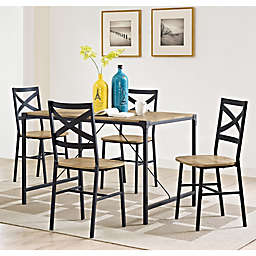 Forest Gate 5inPiece Wheatland Industrial Modern Wood Dining Set