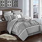 Chic Home Palmetto 16-Piece Queen Comforter Set in Grey