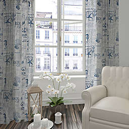 Levtex Home Freetown 84-Inch Window Curtain Panel in White/Navy