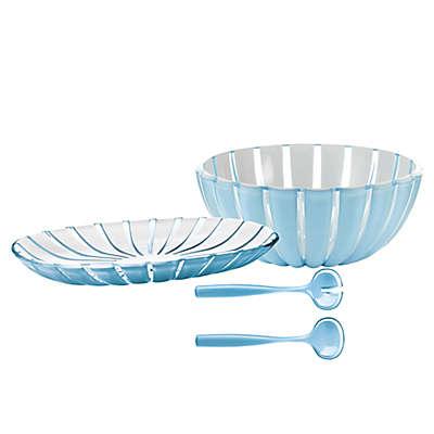 Fratelli Guzzini Grace Sea Blue Acrylic Serveware Collection