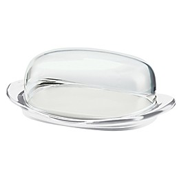 Fratelli Guzzini Vintage Covered Butter Dish in Transparent
