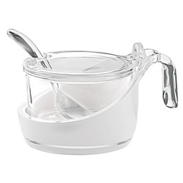 Fratelli Guzzini Vintage Sugar Bowl with Spoon