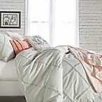 Peri Home Chenille Lattice King Duvet Cover in Grey