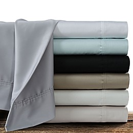 Tribeca Living Solid Color 360-Thread Count Cotton Sateen Deep-Pocket Sheet Set
