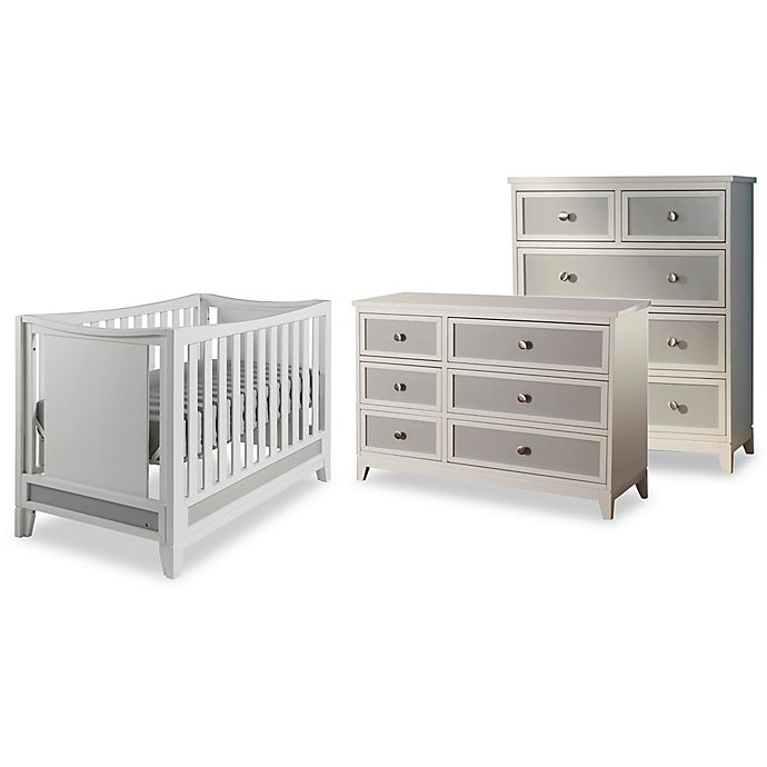 Pali Treviso Nursery Furniture Collection In White Grey