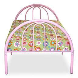 Rack Furniture Brooklyn Metal Twin Bed in Pink