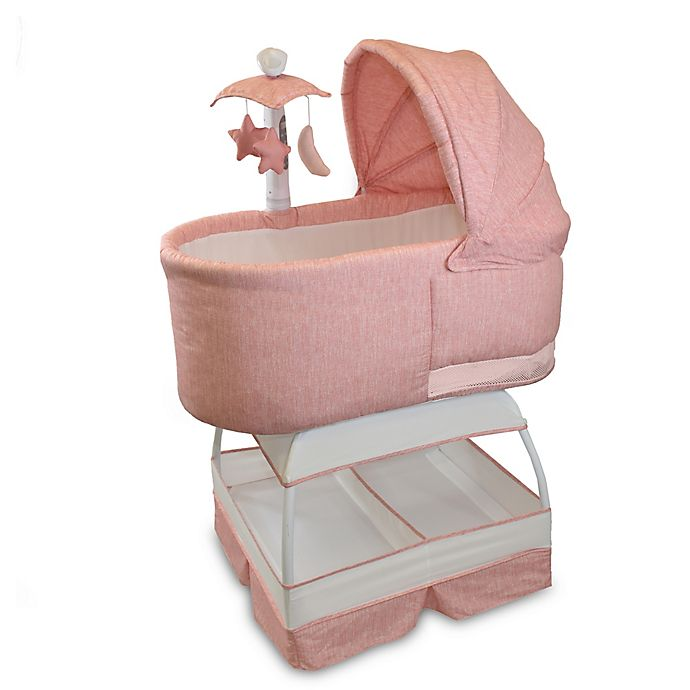 Alternate image 1 for Bliss Sweetli Deluxe Bassinet in Vintage Coral