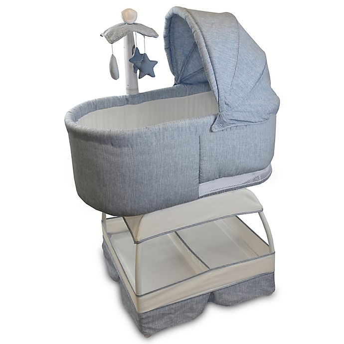 Alternate image 1 for Bliss Sweetli Deluxe Bassinet in Chambray Blue