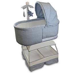 TruBliss Sweetli Deluxe Bassinet in Chambray Blue