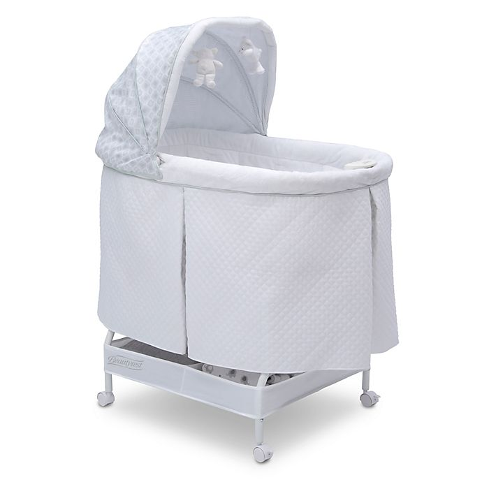 Alternate image 1 for Beautyrest Silent Auto Gliding Lux Bassinet in Arcadia by Delta Children