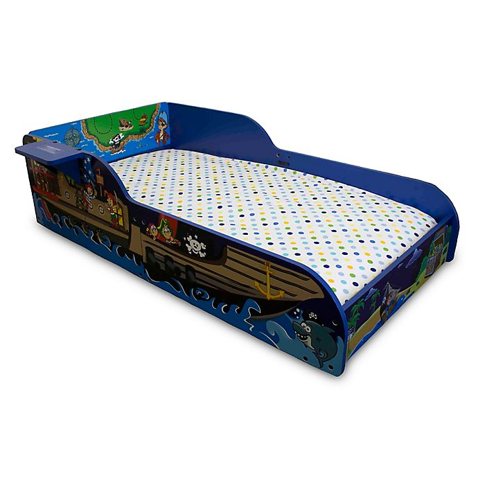 Alternate image 1 for Pirate Toddler Bed in Blue