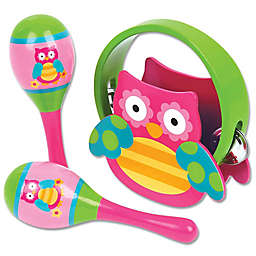 Stephen Joseph® Owl Percussion Set in Pink