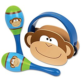 Stephen Joseph® Monkey Percussion Set in Brown