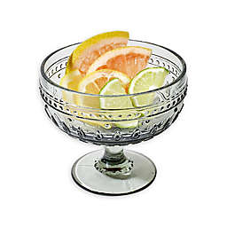 Euro Ceramica Fez Footed Compote Glasses in Grey (Set of 4)