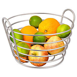 Home Basics® Brushed Satin Nickel Fruit Basket