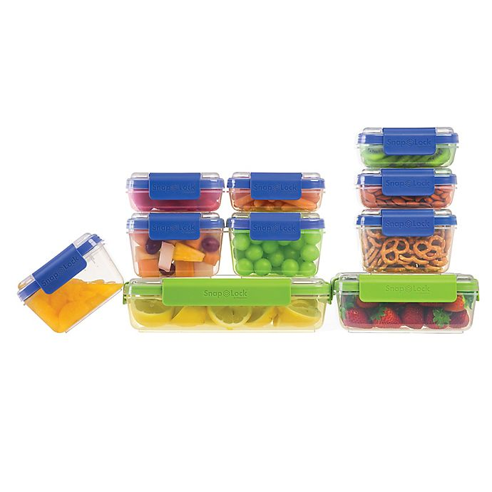 Alternate image 1 for Progressive™ SnapLock 20-Piece Container Set in Blue/Green