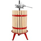 30-Liter Harvest Fiesta Fruit and Wine Press with Ratchet in Red