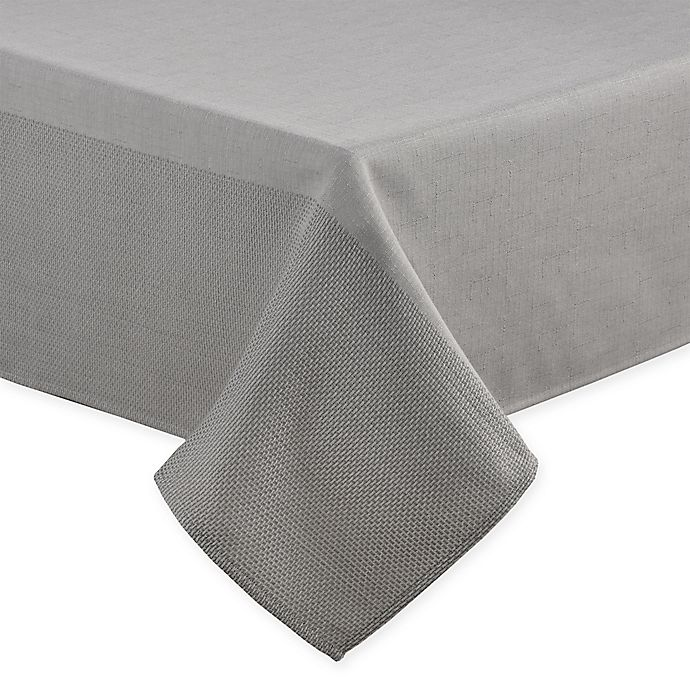 Alternate image 1 for ED Ellen DeGeneres™ Brody 60-Inch x 84-Inch Oblong Tablecloth in Grey