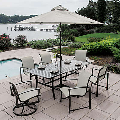 Agio™ Savoye 7-Piece Outdoor Dining Set in Charcoal