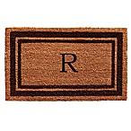 Home & More Monogram Letter  R  24-Inch x 36-Inch Border Door Mat in Brown
