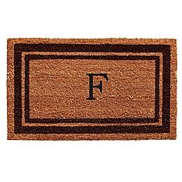 Home & More Monogram Letter Border Door Mat in Brown