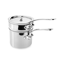 Mauviel M'cook Stainless 0.8 qt. Bain -Marie with Porcelain Insert