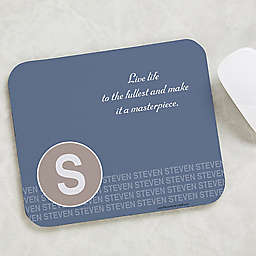Sophisticated Quotes Mouse Pad