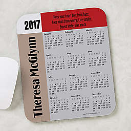 You Design It Quote Calendar Mouse Pad