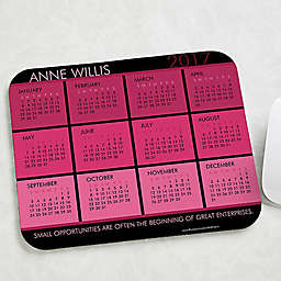It's a Date Calendar & Quote Mouse Pad