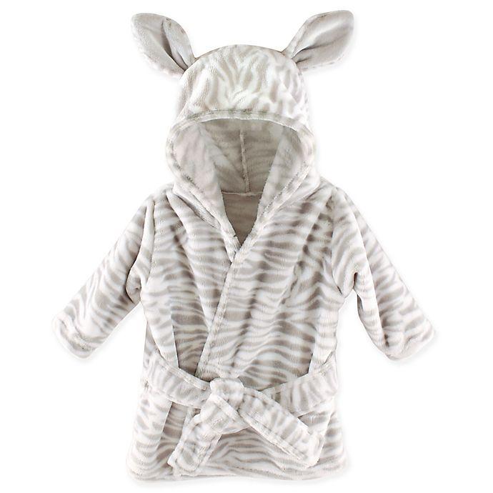 Alternate image 1 for Hudson Baby® Zebra Plush Bathrobe