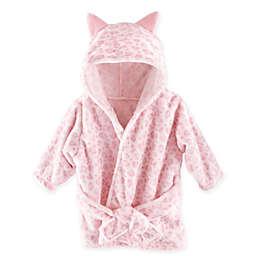 Hudson Baby Leopard Bathrobe in Pink