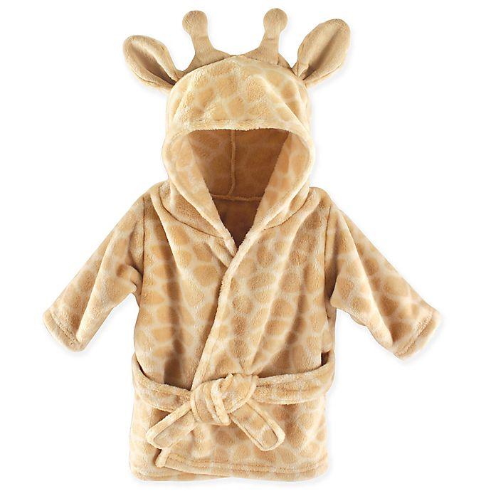 Alternate image 1 for Hudson Baby Giraffe Bathrobe in Brown