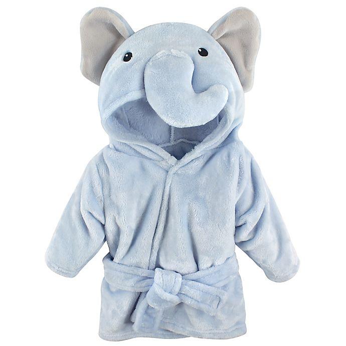 Alternate image 1 for Hudson Baby® Elephant Bathrobe in Blue