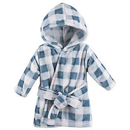 Hudson Baby® Plaid Bathrobe in Blue