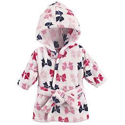 BabyVision® Hudson Baby® Pink Bows Bathrobe
