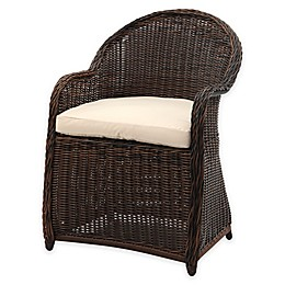 Safavieh Newton All-Weather Wicker Arm Chair with Cushion