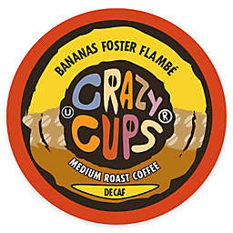 Crazy Cups® Decaf Banana Foster Flambe Coffee Pods for Single Serve Coffee Makers 22-Count