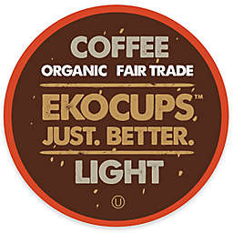 EkoCups™ Organic Light Gourmet Coffee Pods for Single Serve Coffee Makers 40-Count