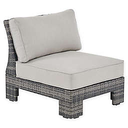 Madison Park Scarlett Outdoor Lounge Chair in Dark Grey/Grey