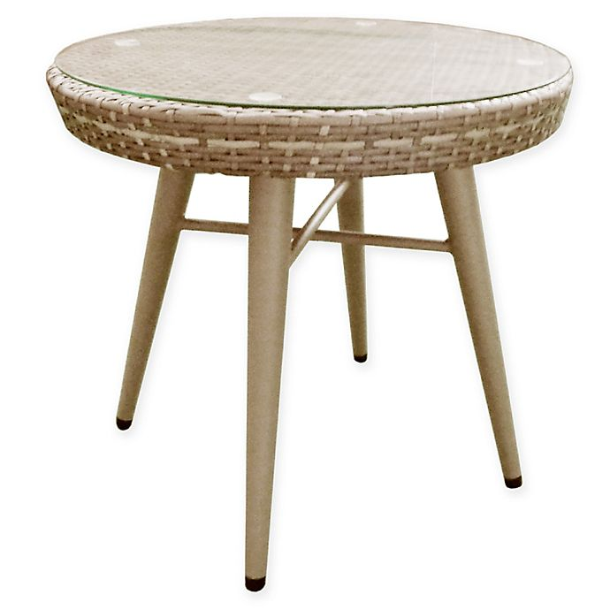 Alternate image 1 for INK+IVY Avery Outdoor End Table in Dark Grey