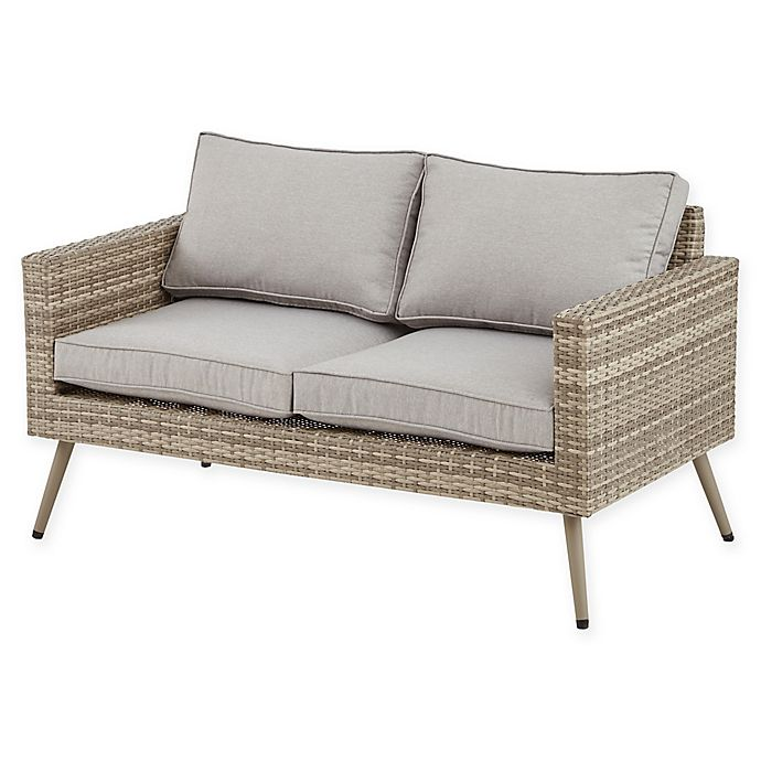 Ink Ivy Avery Outdoor Loveseat In Light Grey Bed Bath