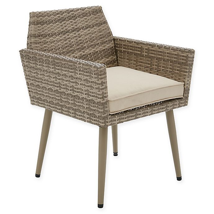 Alternate image 1 for INK+IVY Avery Outdoor Armchair in Light Grey (Set of 2)