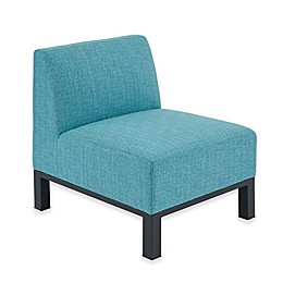Madison Park Aiden Outdoor Armless Lounge in Blue/Dark Grey