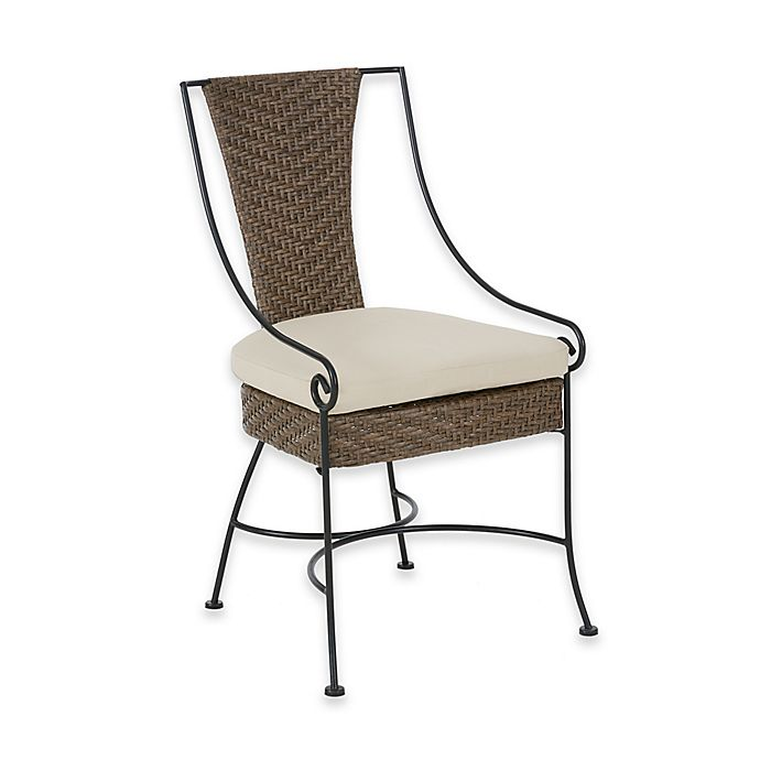 Alternate image 1 for Madison Park Lily Outdoor Arm Chairs in Mocha/Beige (Set of 2)