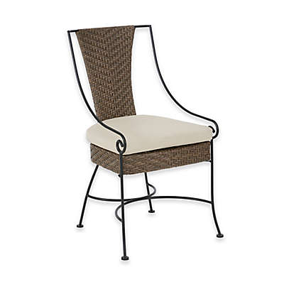 Madison Park Lily Outdoor Arm Chairs in Mocha/Beige (Set of 2)